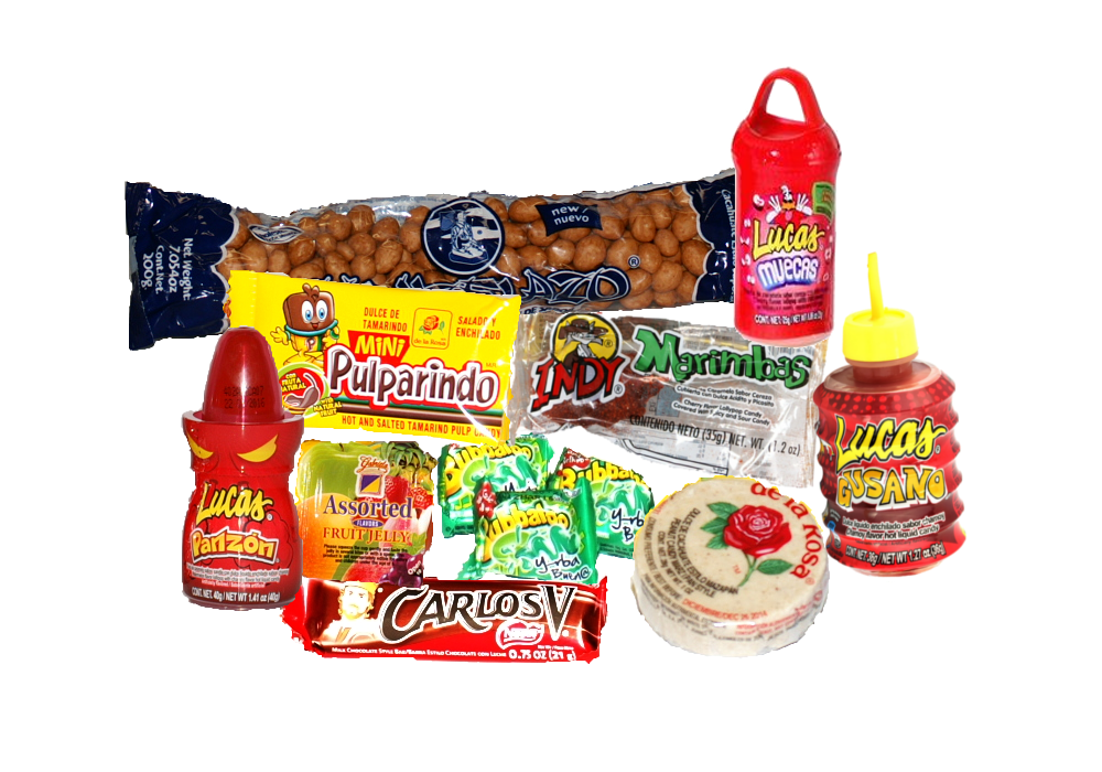 Mexican candies png. Delicious candy bags otro
