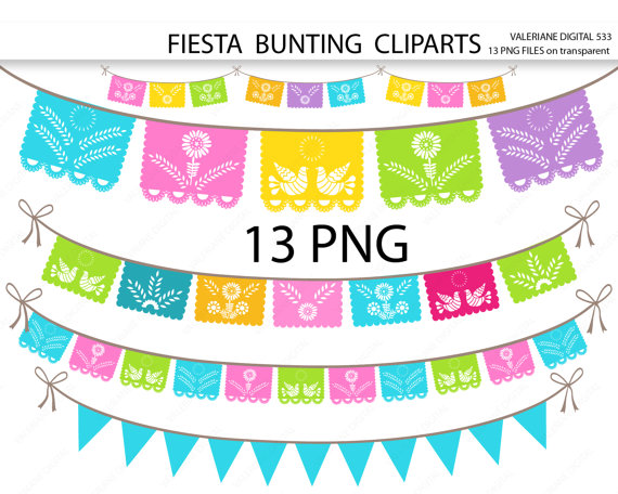 pennant clipart flag party mexican