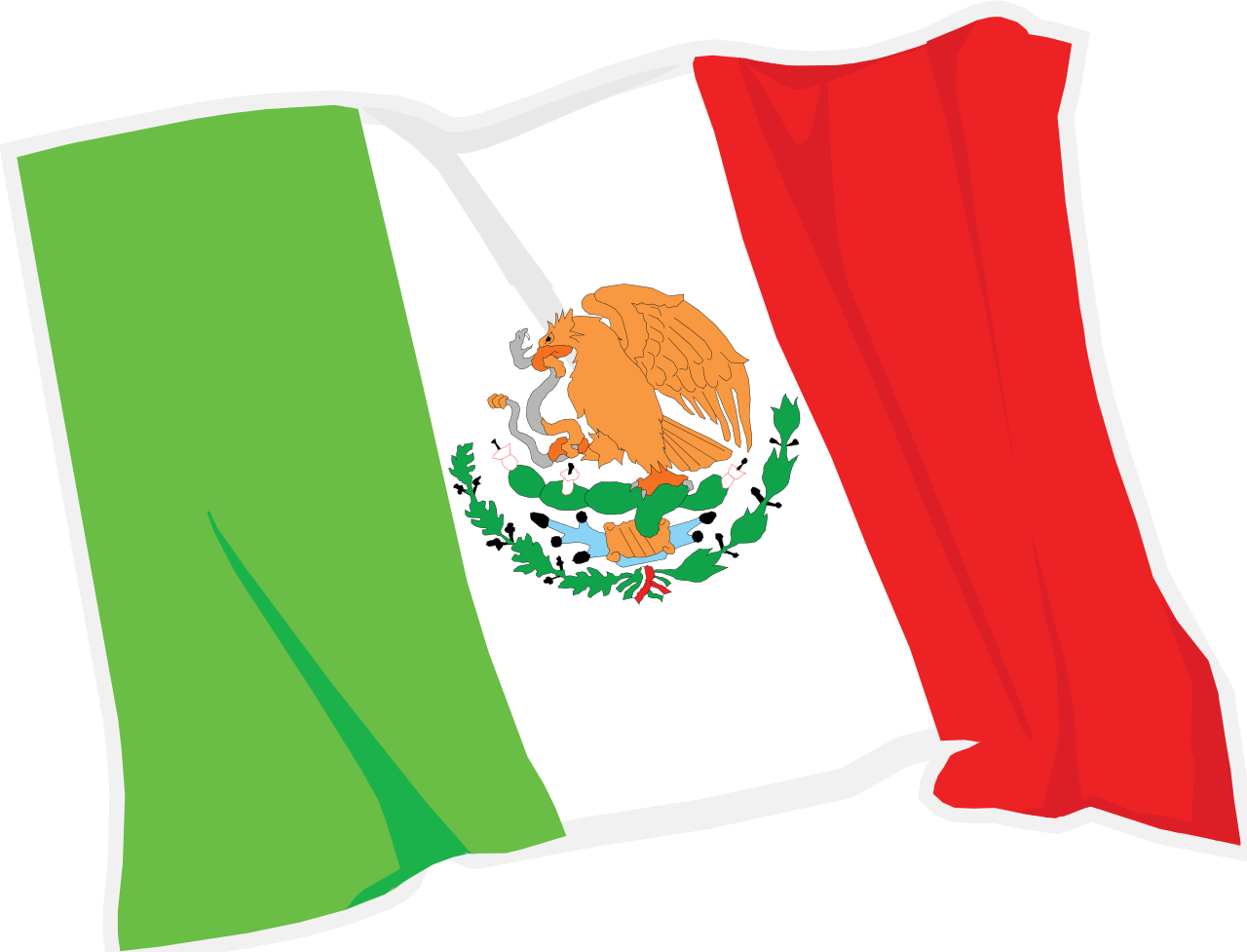 mexico flag waving png