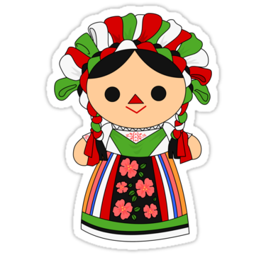 Mexican doll png. Maria sticker by alapapaju