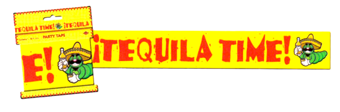 Mexican fiesta banner png. Tequila time party tape