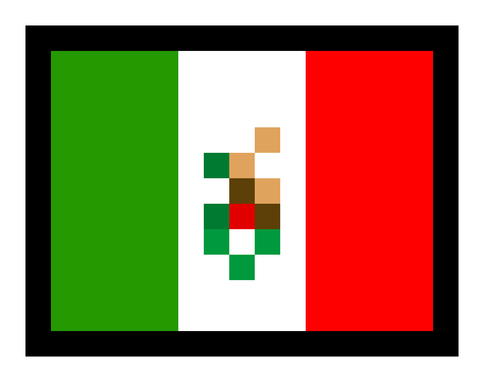 Mexican flag png. Pixel art maker