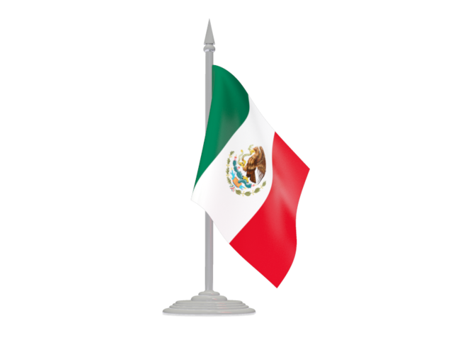 México png clipart. Flag with flagpole illustration