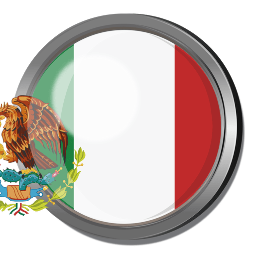 Mexican flag transparent png. Mexico badge svg vector