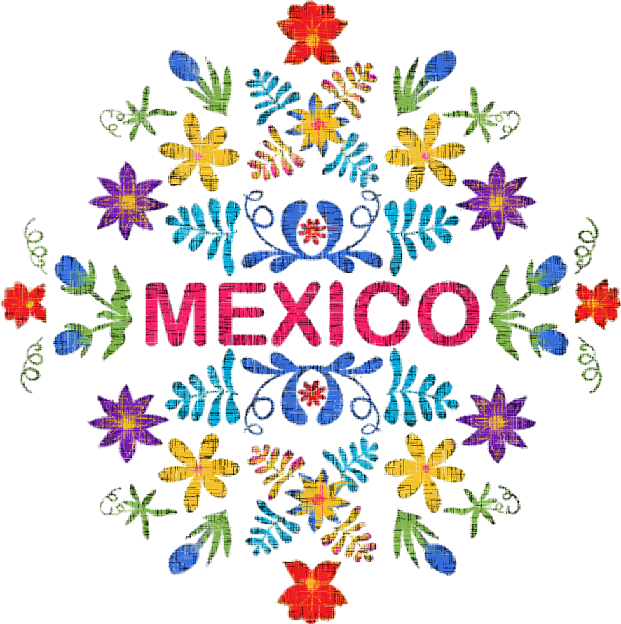 Mexican floral design png. Colorful cute mexicanart mexico
