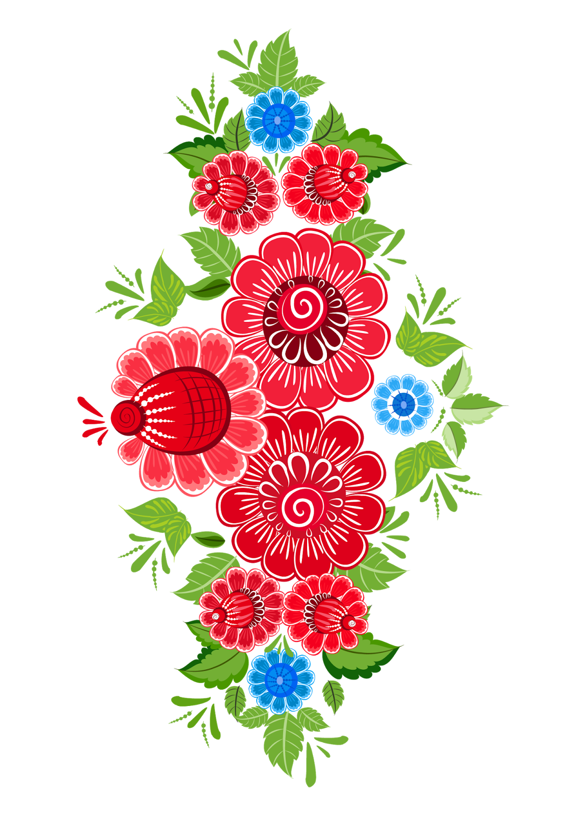 Mexican flowers png. Decorative pattern pinterest