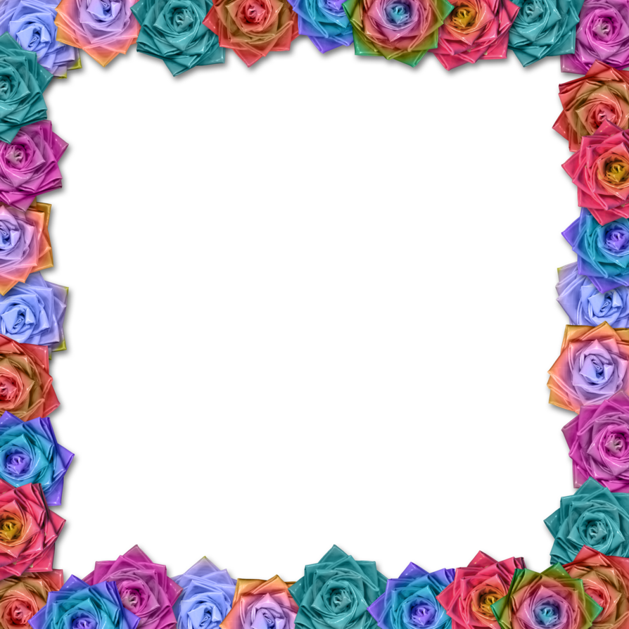 Mexican flowers border png. Free simple flower designs