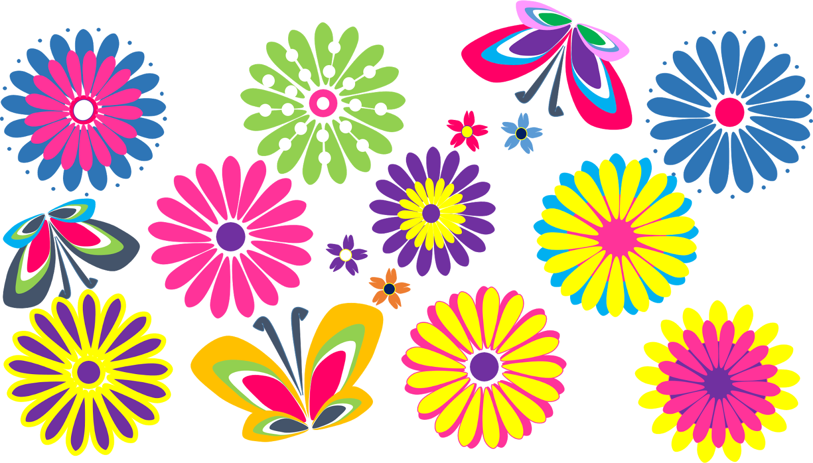 Mexican flowers border png. Collection of clipart