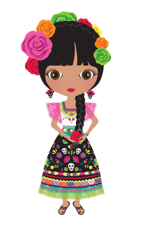 Mexican doll png. Personnages illustration individu personne