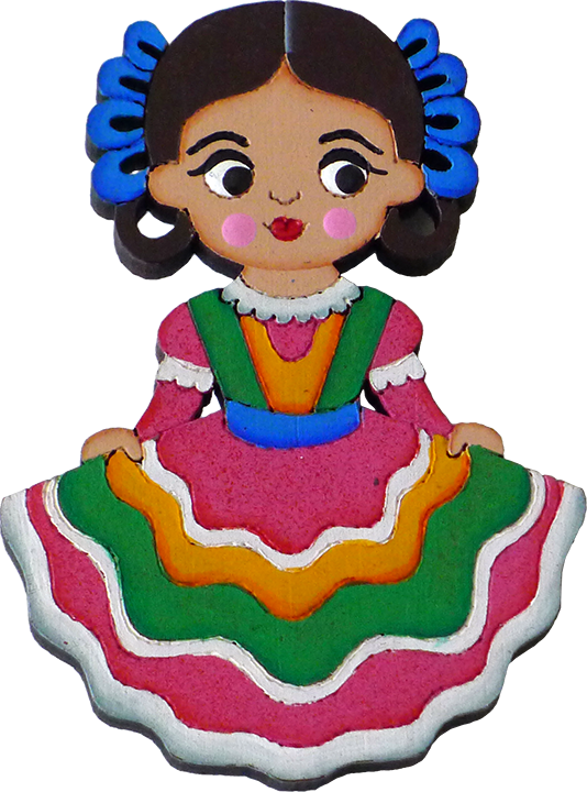 Charra drawing traditional. Cute mexican girls png