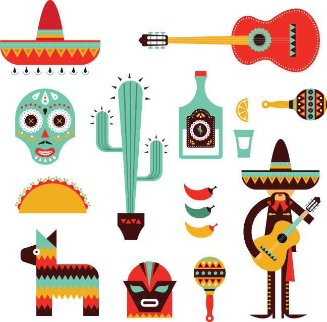 Mexican icon png. Decorative icons oldcuts