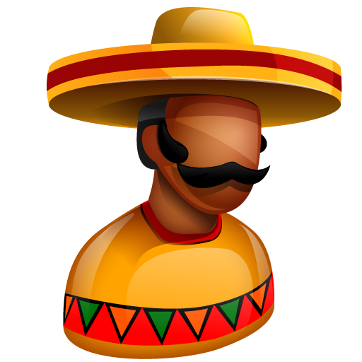 Mexican person png. Head man icon free