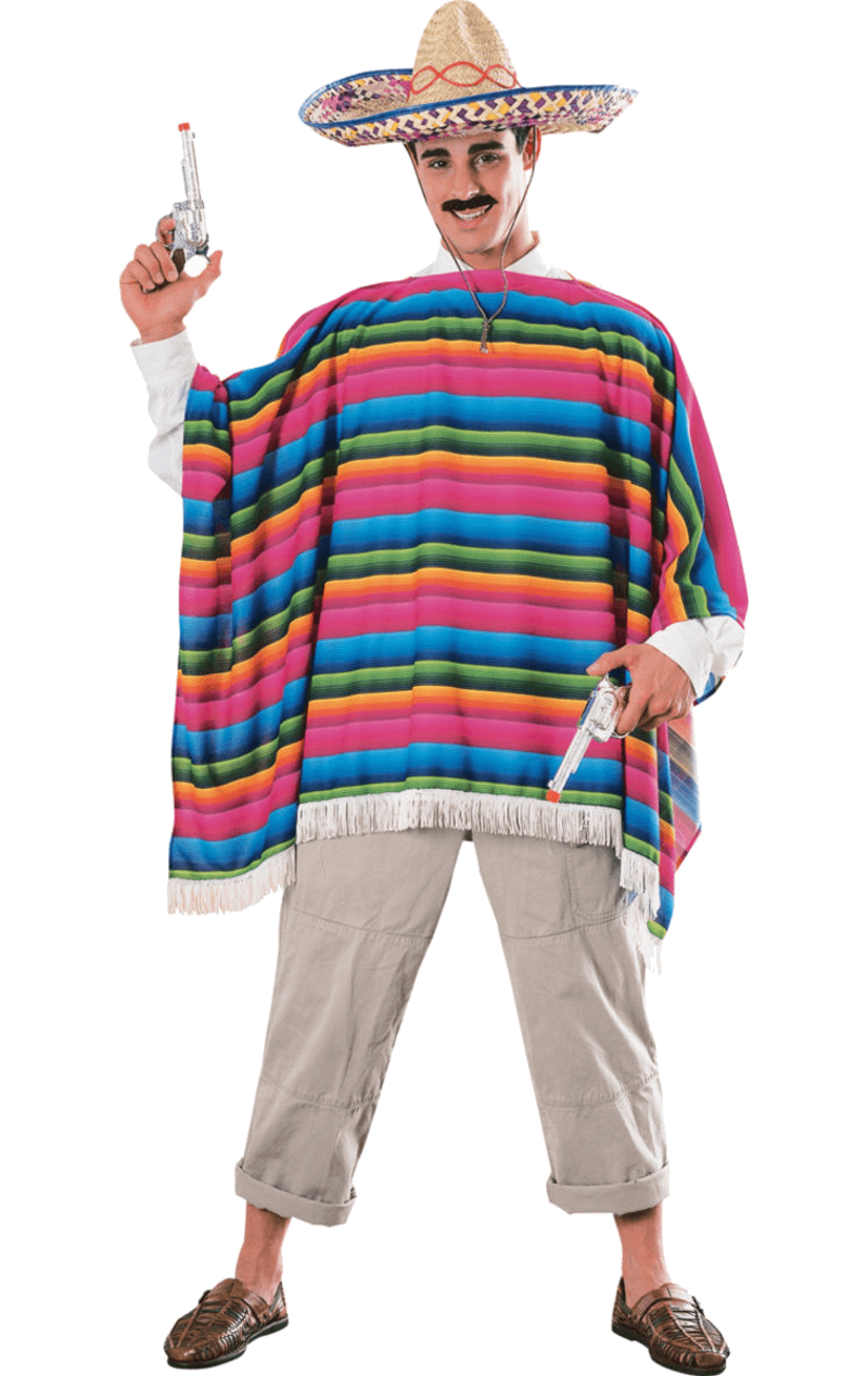 Mexican people png. Adult serape sombrero jokers