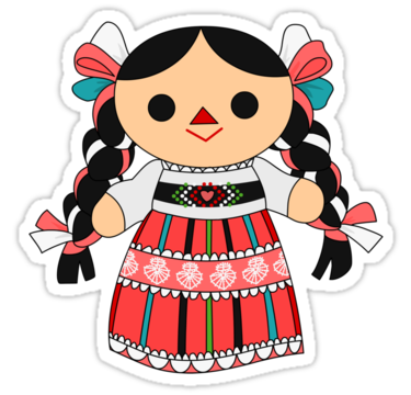 Mexican people png. Maria doll sticker by