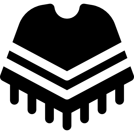 Mexican poncho png. Fashion traditional clothes icon