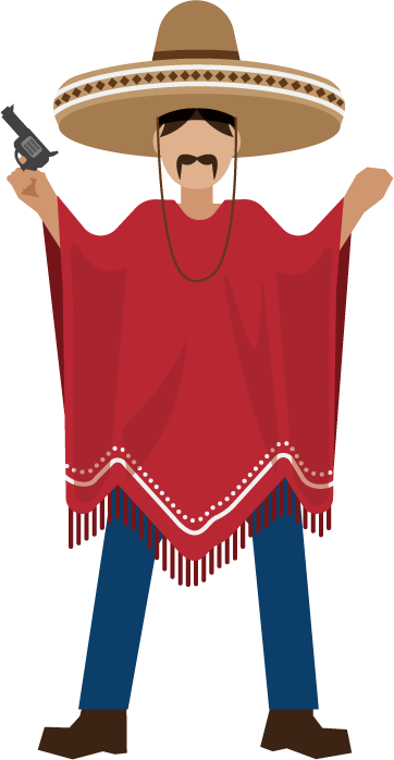 Mexican poncho png. Mexico cuisine icon cultural