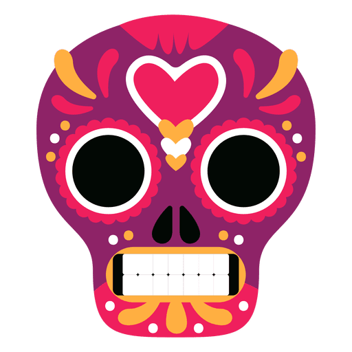 Mexican skull png. Red mexico transparent svg