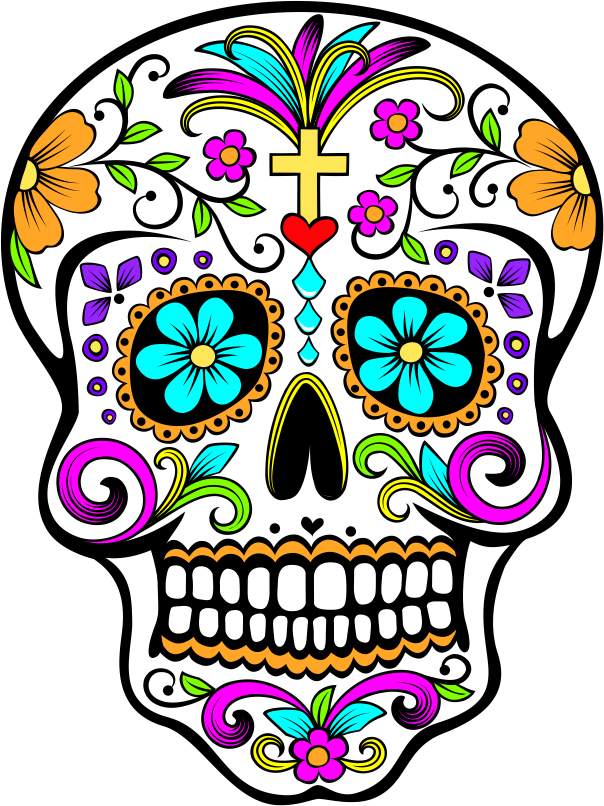 Mexican skull png. Calaquita linda embroidery pinterest
