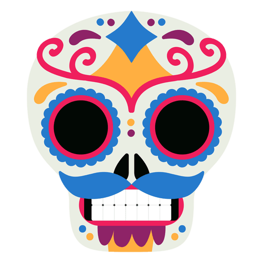 Mexican skull vector png. Mexico dead day transparent