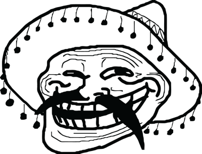 Mexican troll face png. Dlpng meme