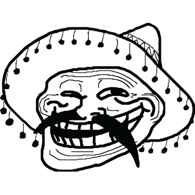 Mexican troll face png. Meme transparent stickpng
