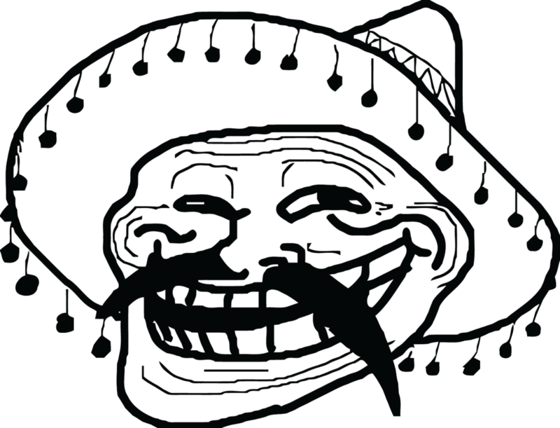 Mexican troll face png. Download free meme dlpng