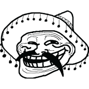 Mexican troll face png. Sticker