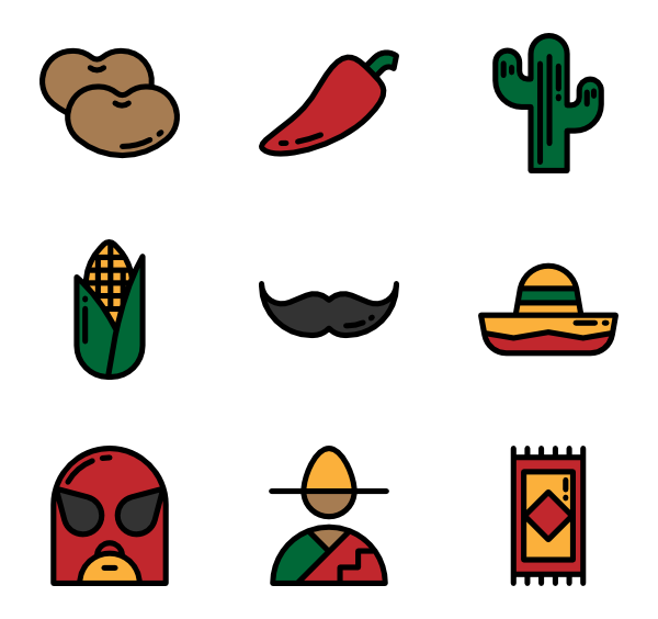 Mexican vector png. Icon packs svg