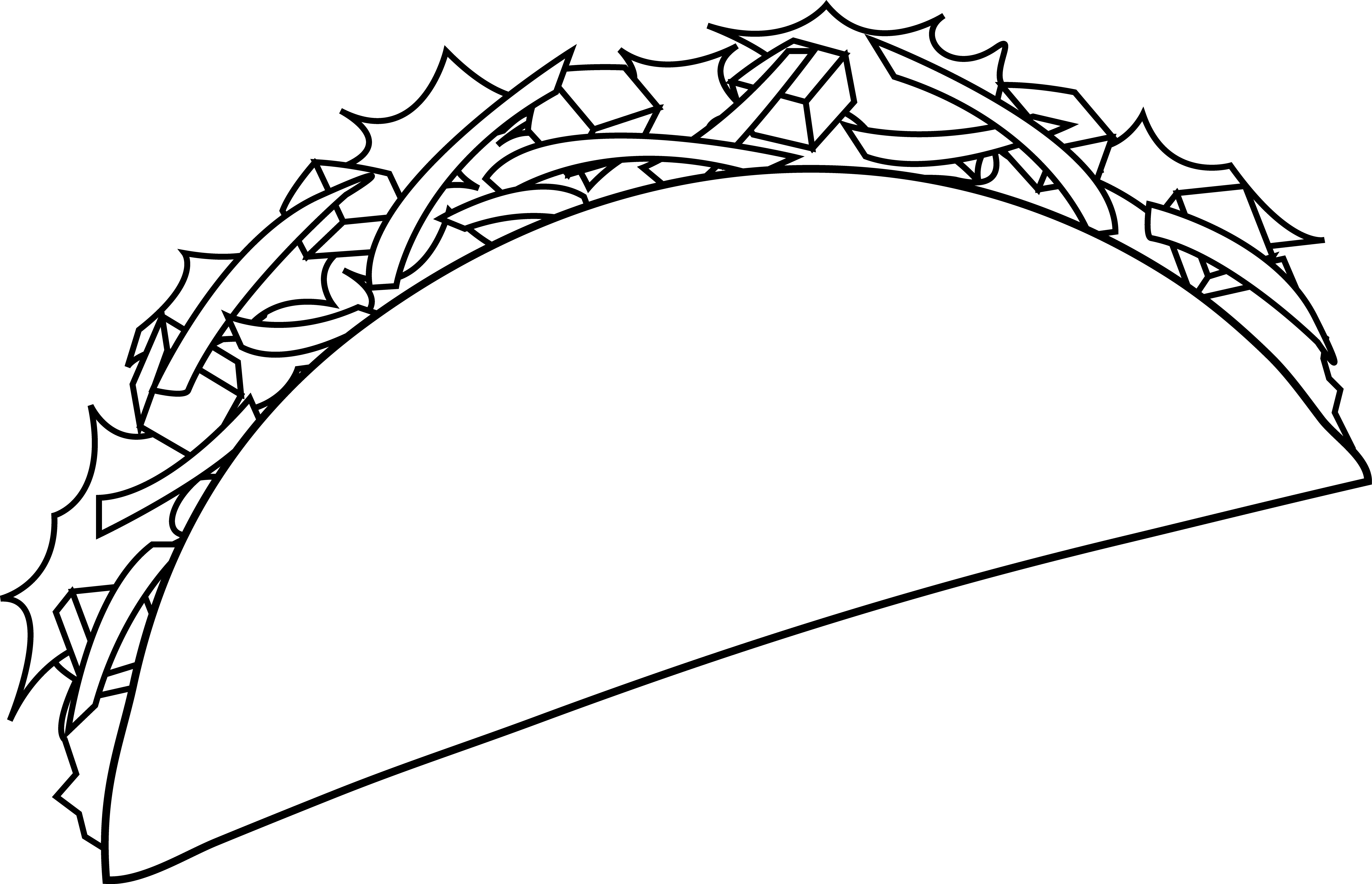 Taco clipart black and white. Free pics of tacos