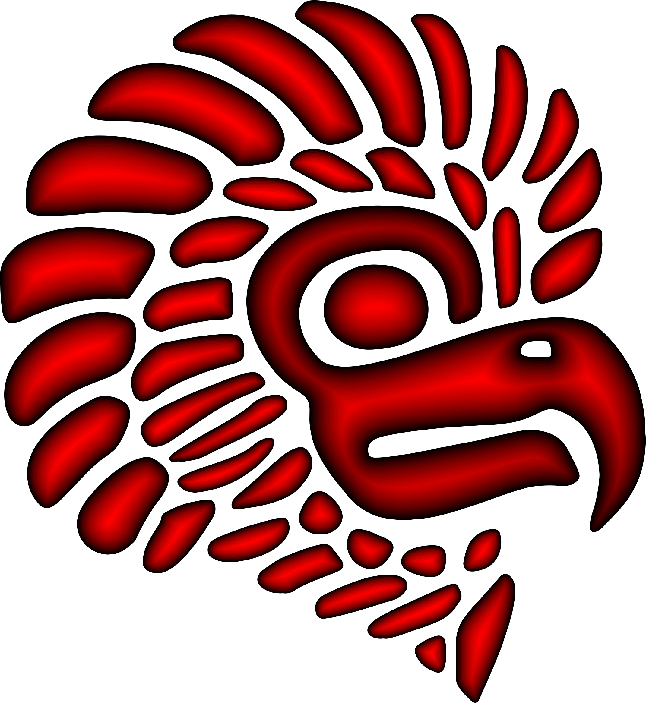 Mexico eagle png. Clipart crimson stylized mexican