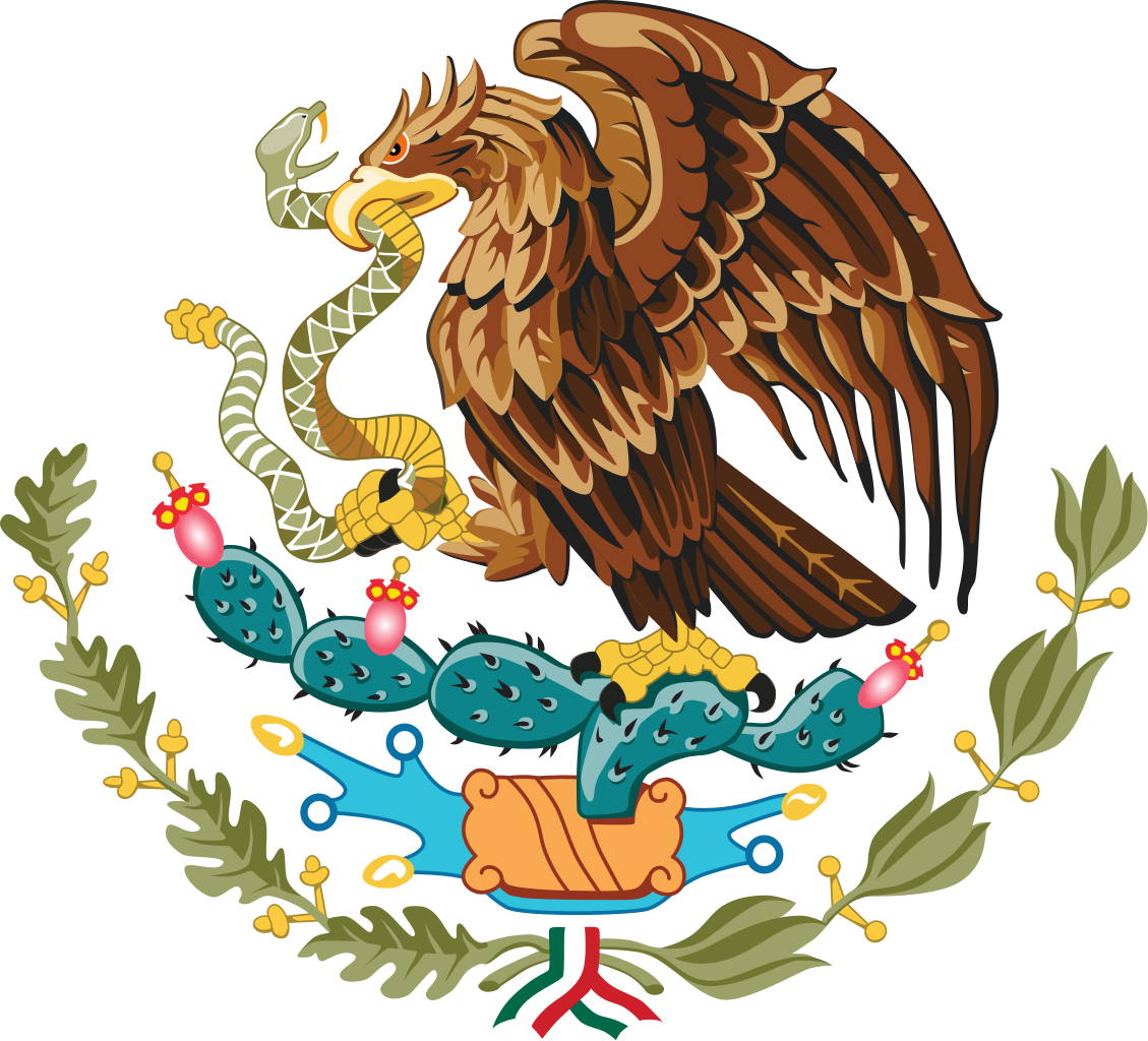 mexico flag eagle png