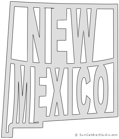 New mexico outline png. Map printable state shape