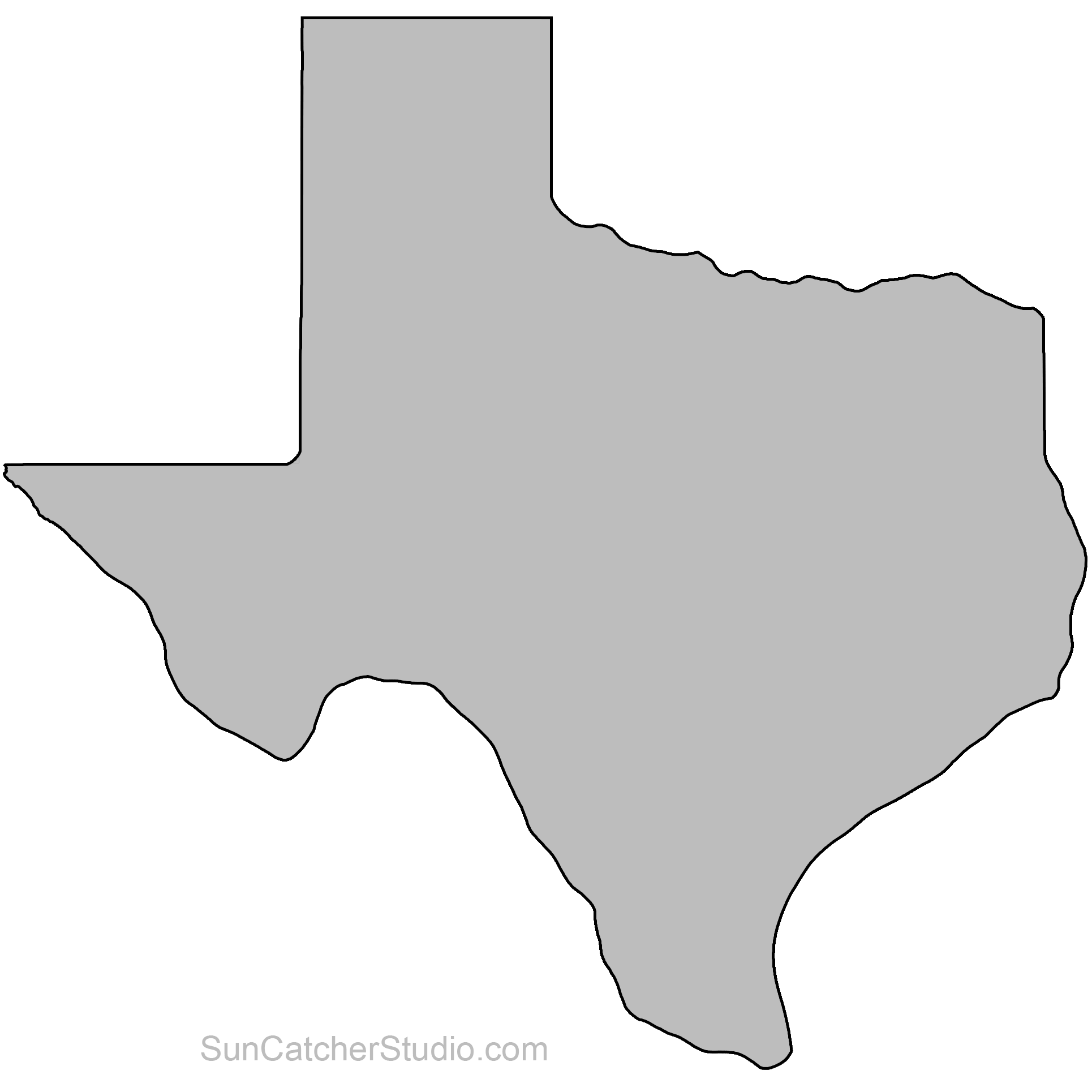 Reverse clip woodworking. Texas map outline printable