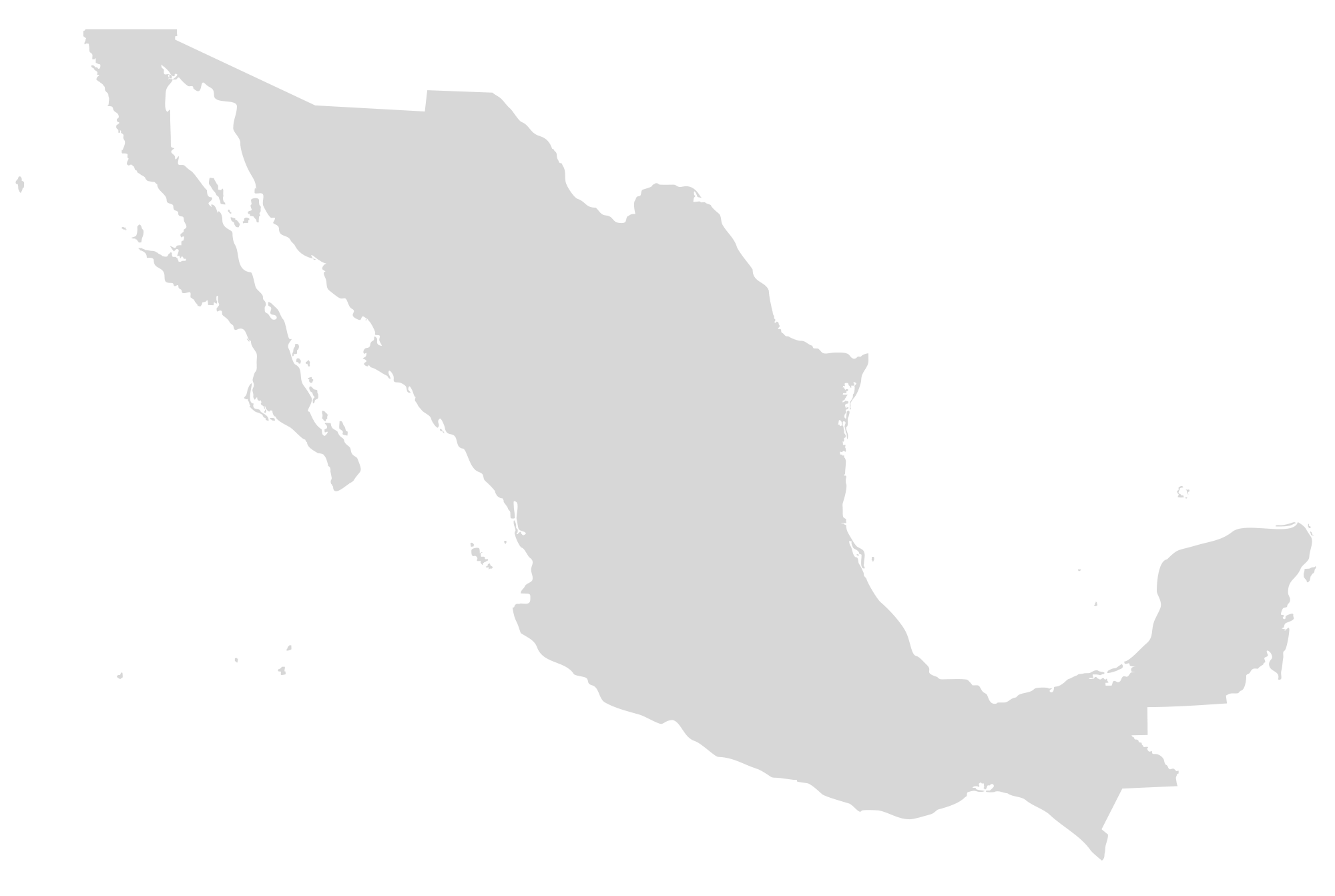 Mexico map png. File blank no states