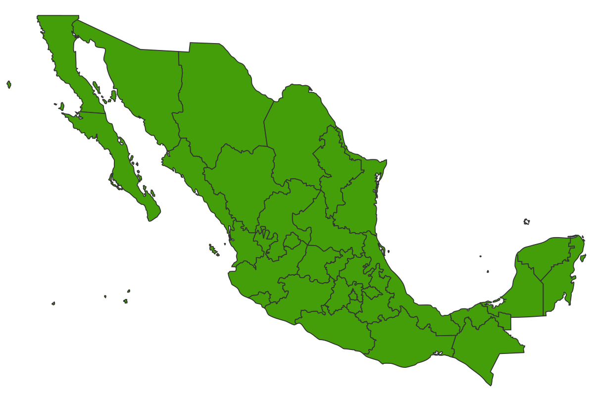 Mexico png. Image map of vexillology