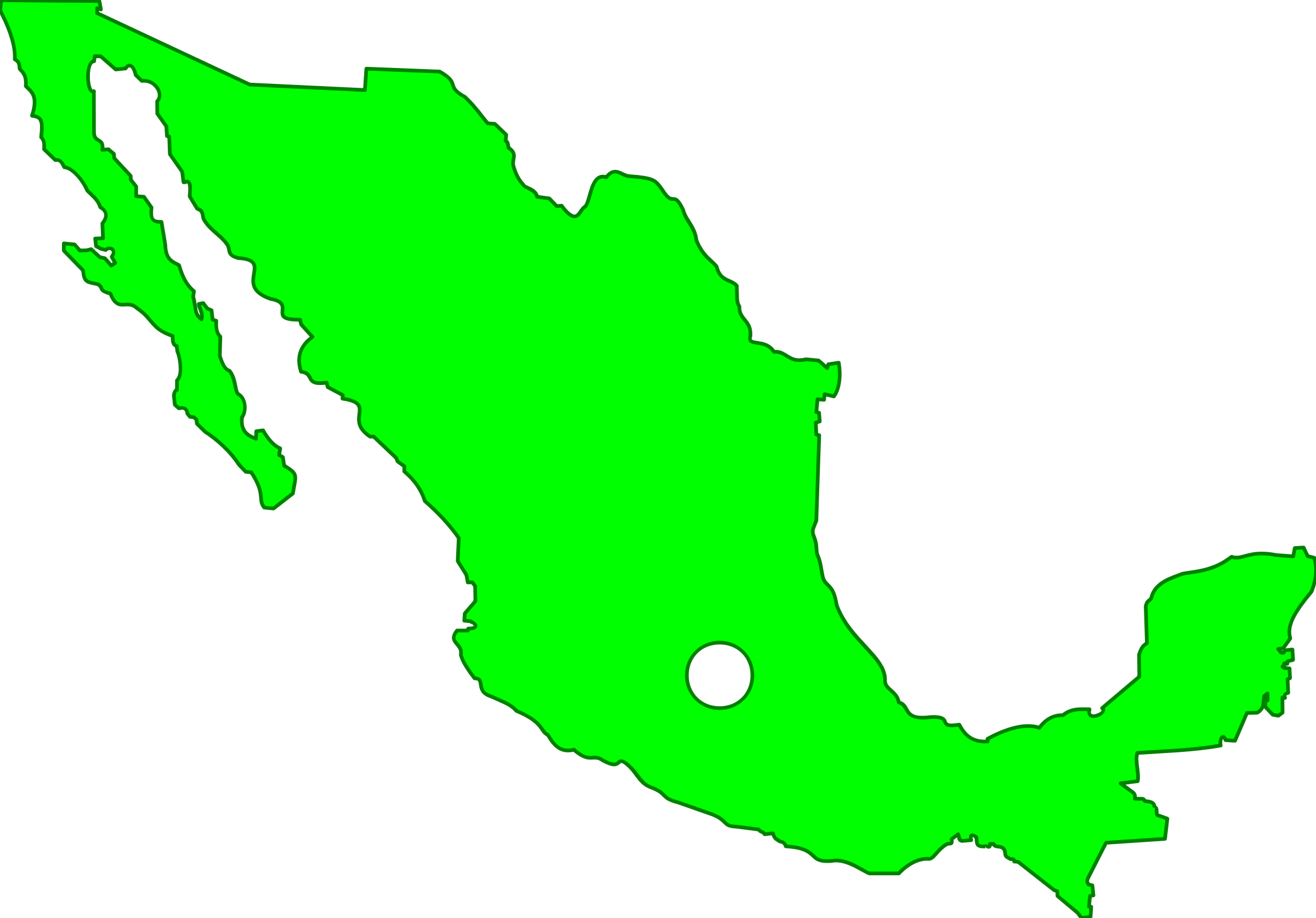 Mexico map png. Icons free and downloads