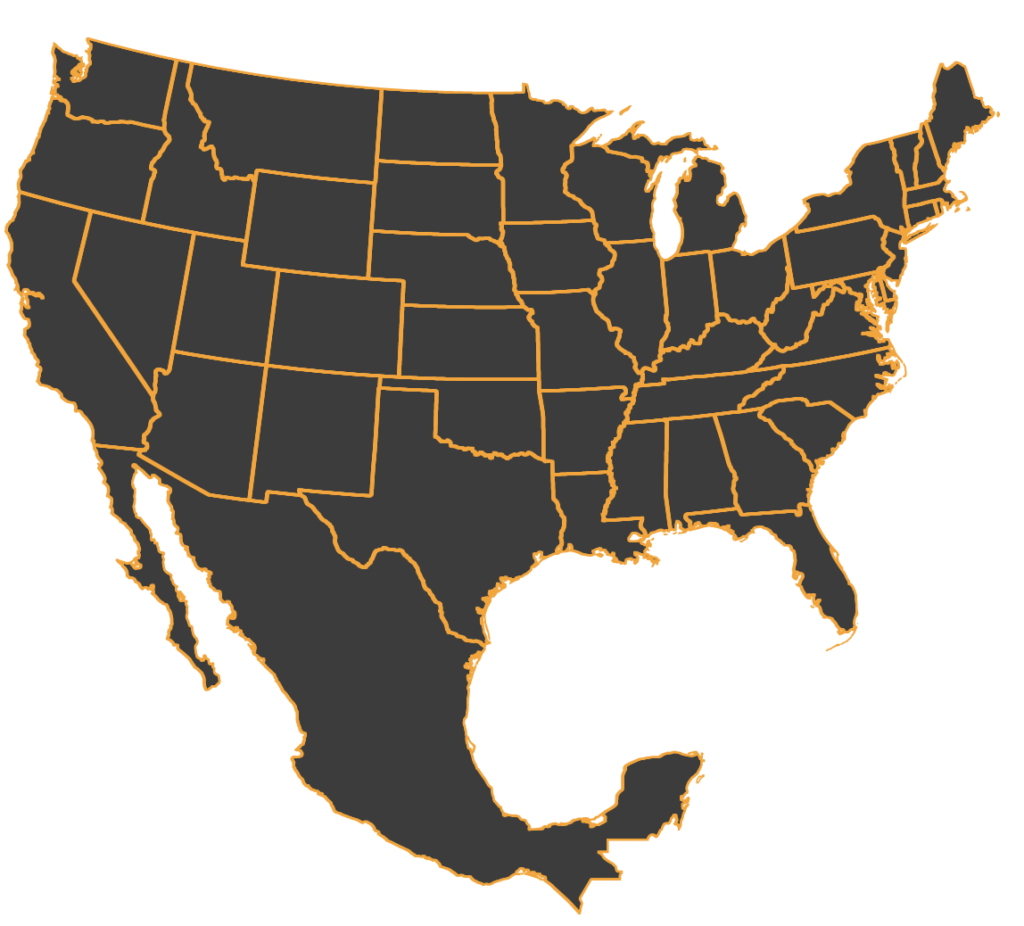 Mexico outline png. Map of the us