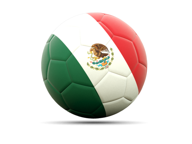 Mexico soccer ball png. Football icon illustration of