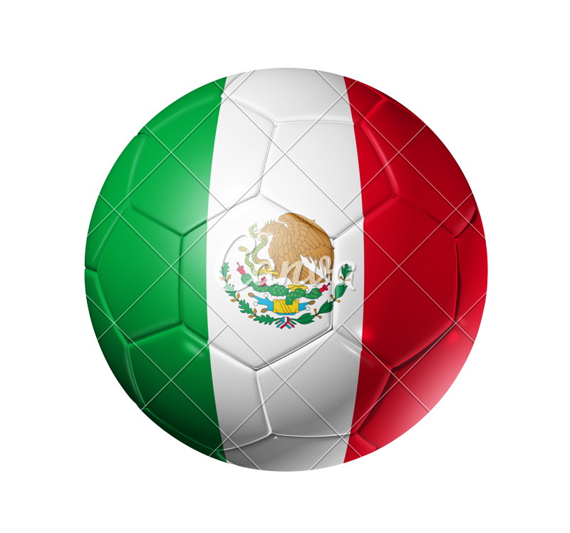 Mexico soccer ball png. Football with flag photos