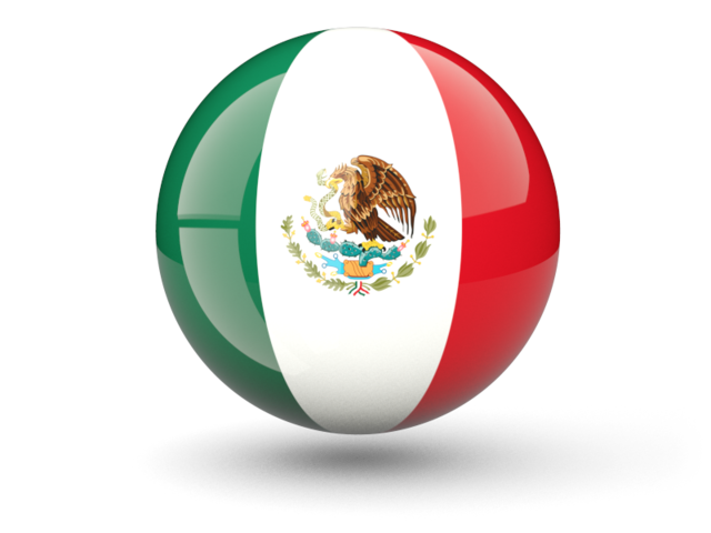 Mexico soccer ball png. Sphere icon illustration of