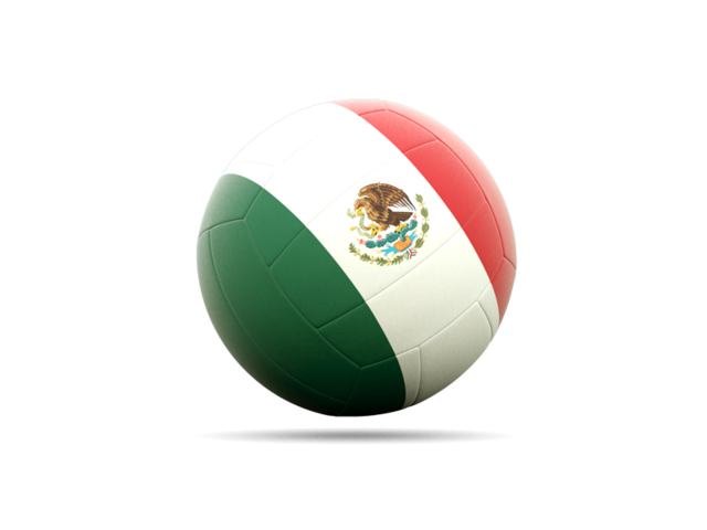 Mexico soccer ball png. Volleyball icon illustration of