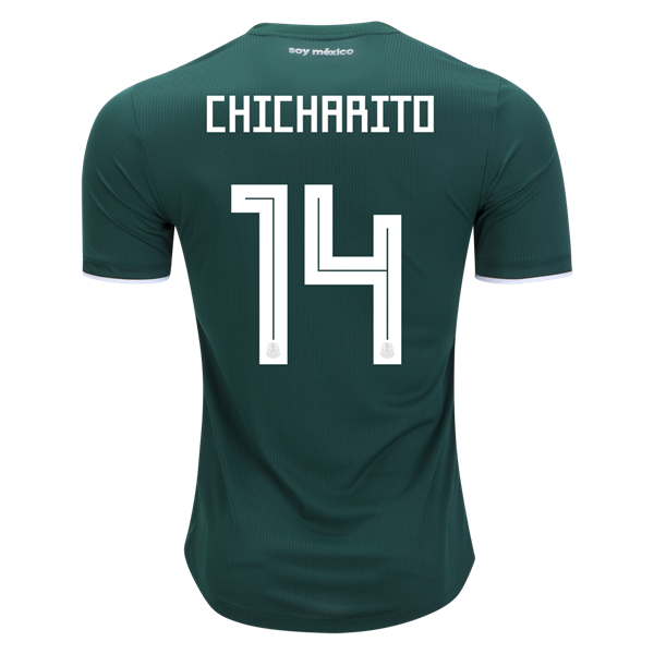 Mexico soccer jersey png. Chicharito authentic home by