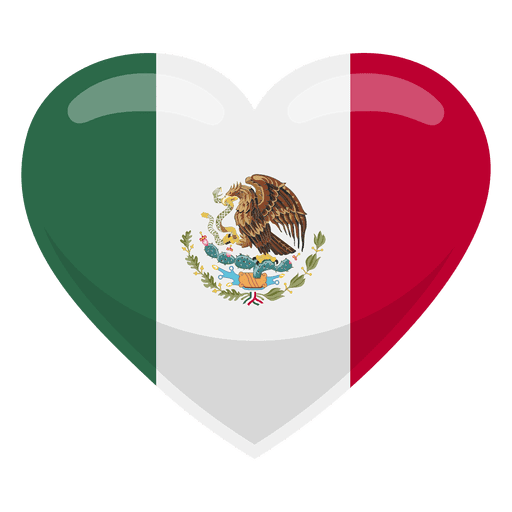 Mexico png. Heart flag transparent svg