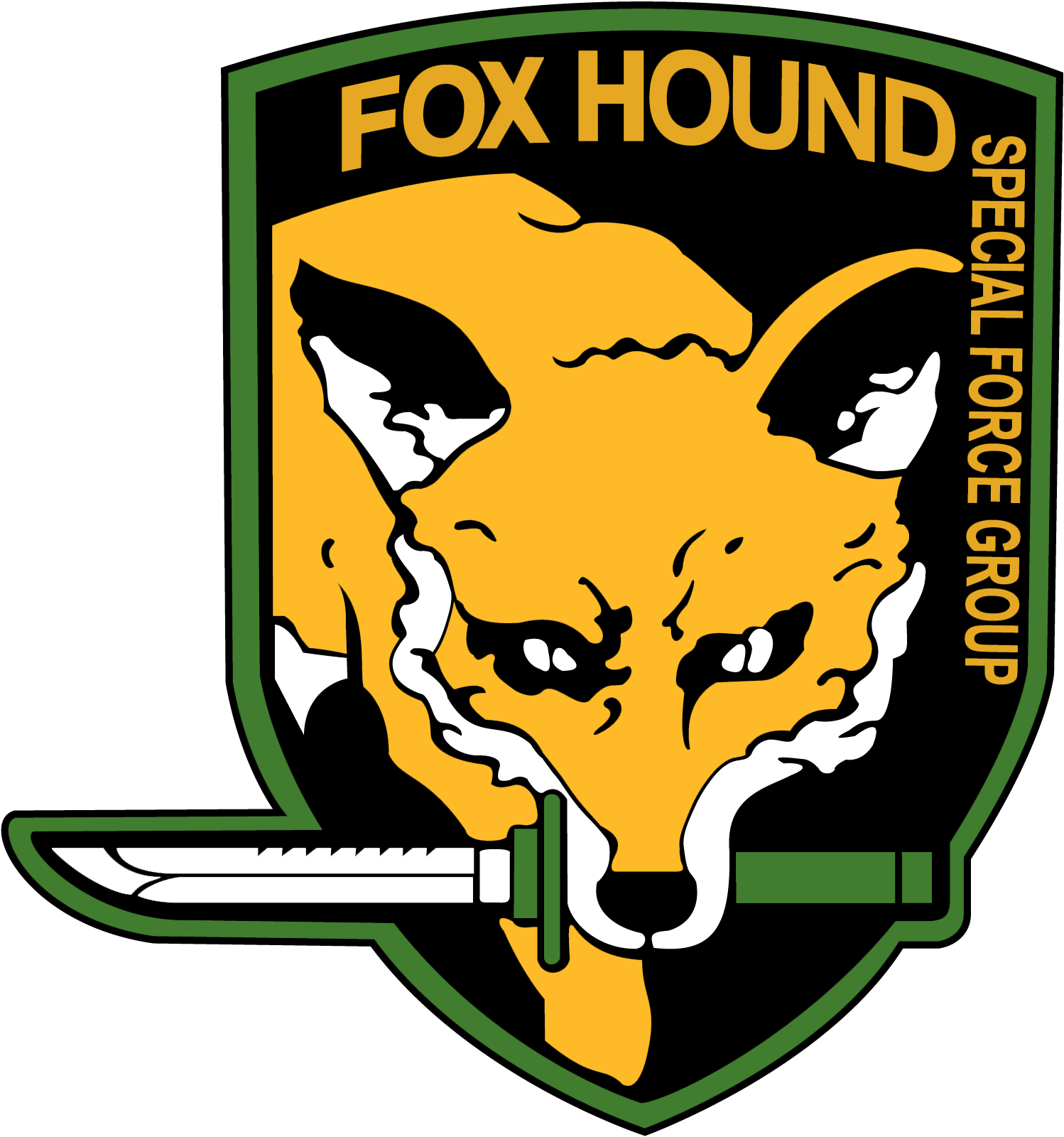 Mgs fox logo png. Image foxhound metal gear