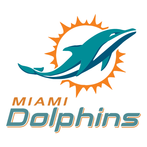 Miami dolphins logo png. American football transparent svg