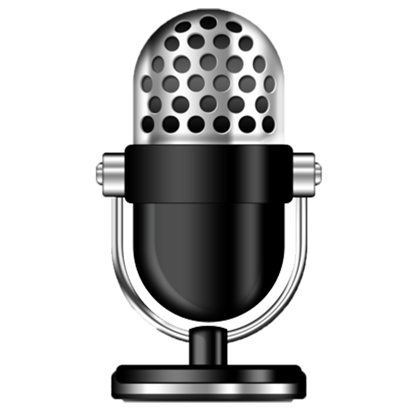 Transparent mic clear background. Recording studio microphone image