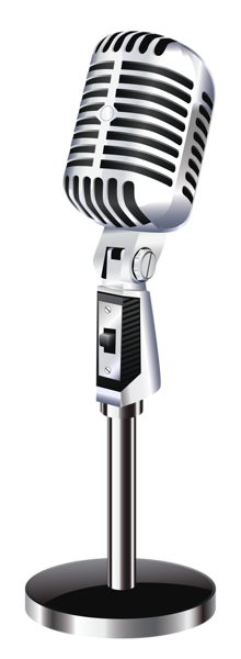 Mic in recording booth png. Retro microphone clipart picture