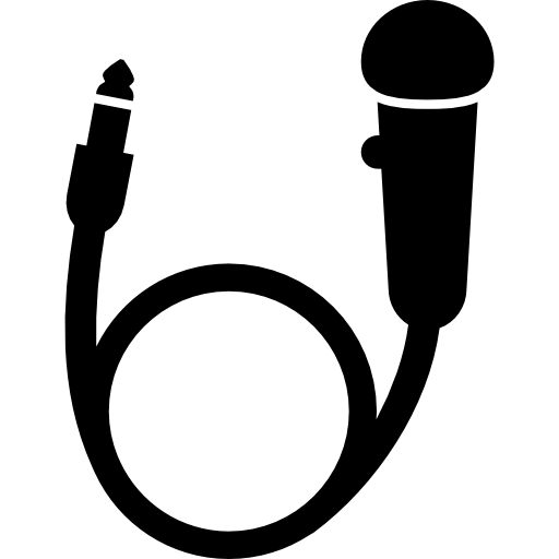 Mic with cord png. Voice microphone silhouette svg