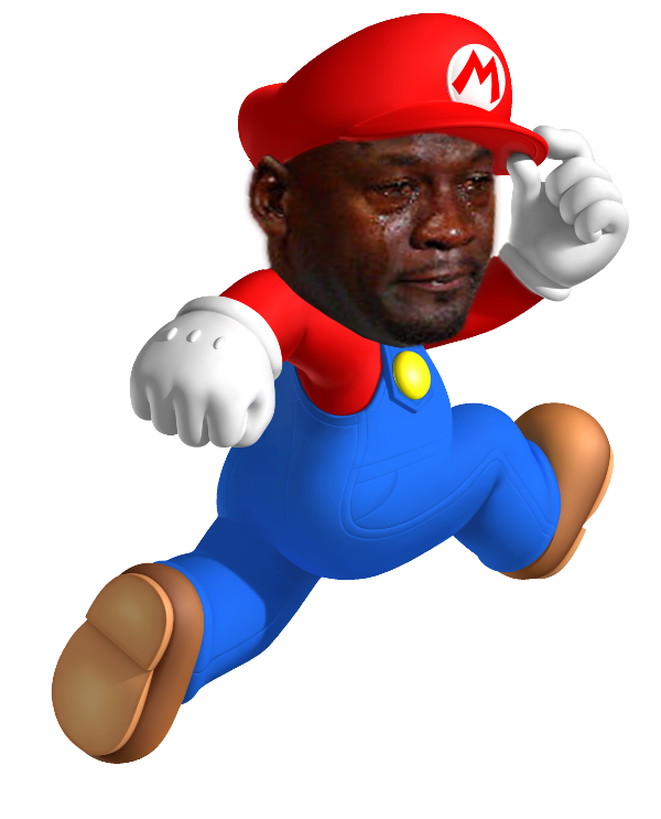 Michael jordan crying png. Super mario know your