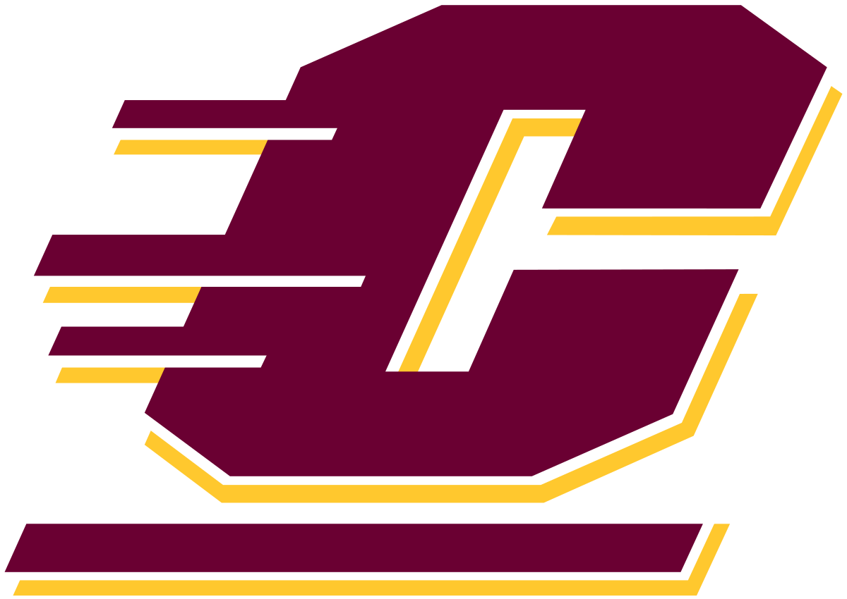 Athlete drawing football team. Central michigan chippewas